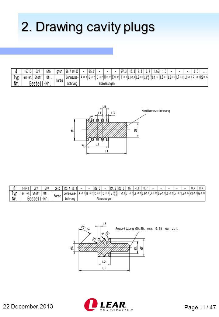 Page 11 / 47 22 December, 2013 2. Drawing cavity plugs 2. Drawing cavity plugs