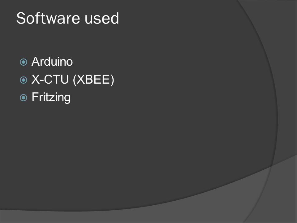 Software used Arduino X-CTU (XBEE) Fritzing