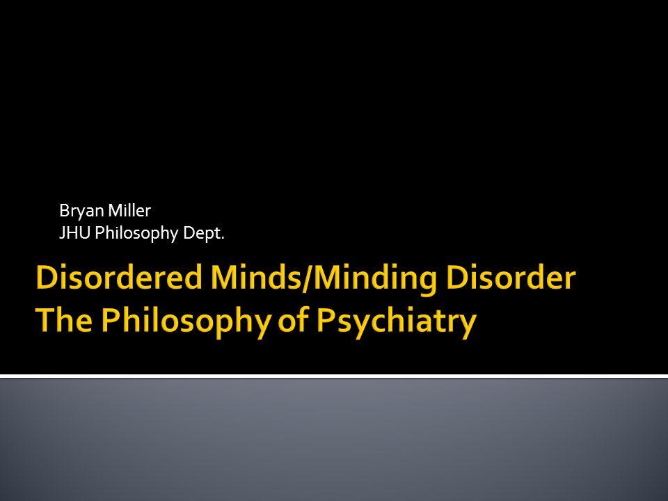 Bryan Miller JHU Philosophy Dept.