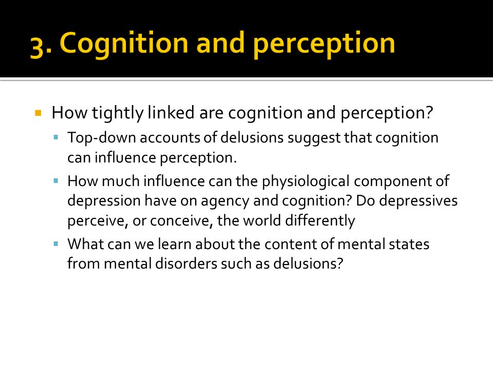 How tightly linked are cognition and perception.