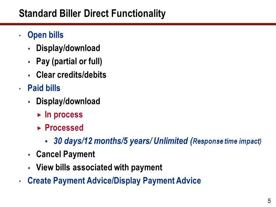 Timeline – Biller Direct 2012 rollout to 12 businesses integrated to SAP ERP Central Component 4 200720082009 MAR OCT MAY OCT JAN MAR Development to P