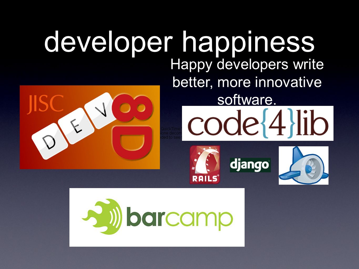 developer happiness Happy developers write better, more innovative software.