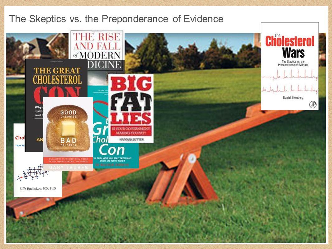 The Skeptics vs. the Preponderance of Evidence