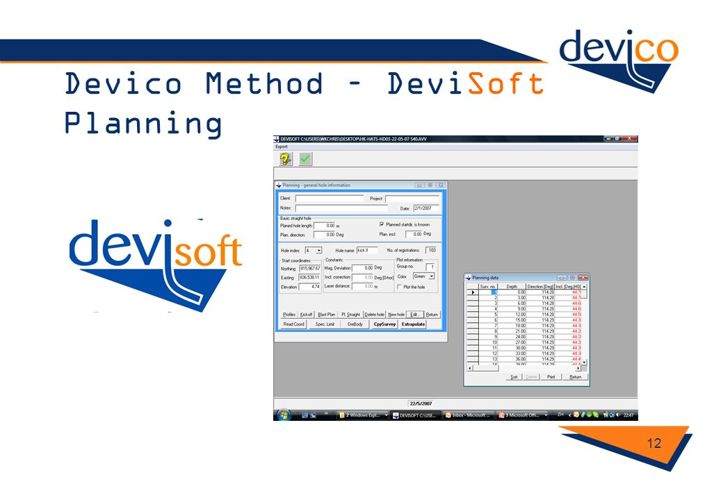 Devico Method – DeviSoft Planning 12