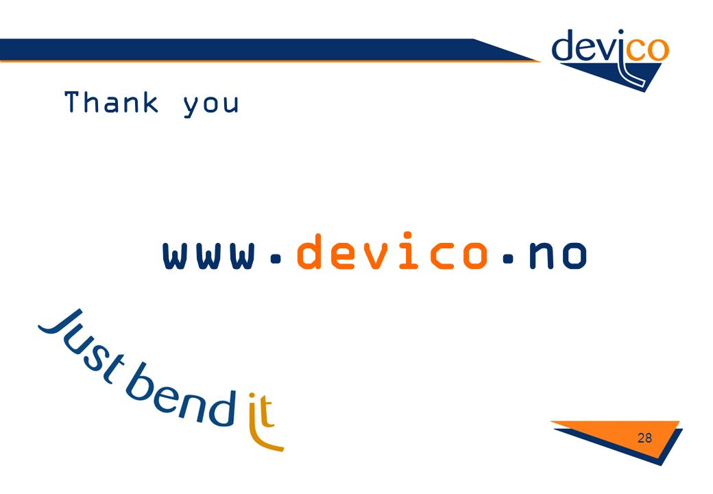 Thank you 28 www.devico.no