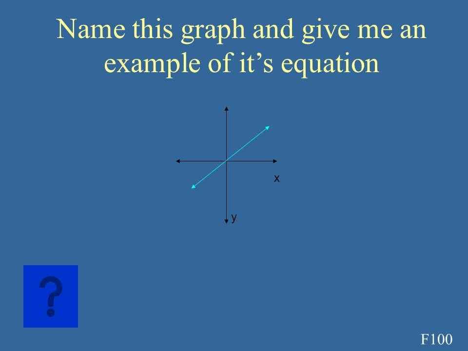 E500A Y=100(.87) t