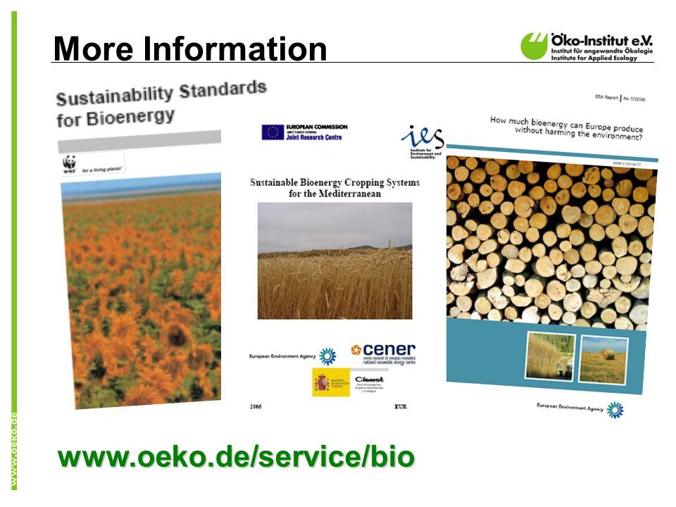 More Information www.oeko.de/service/bio