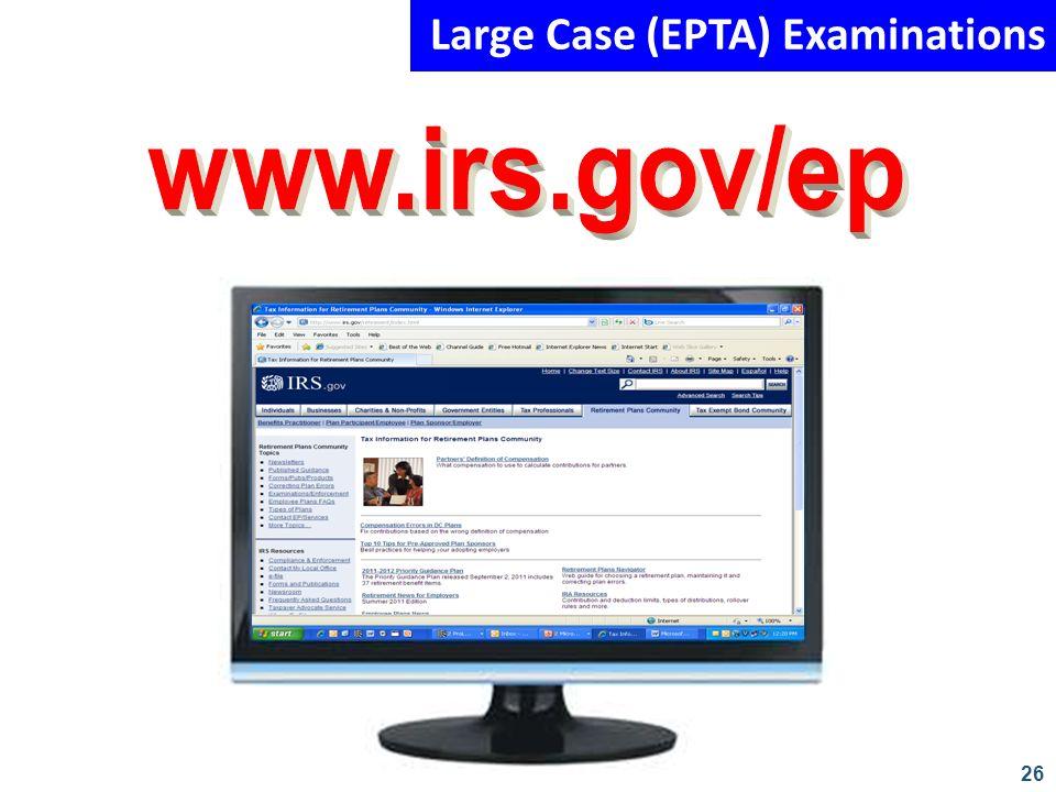 26 Large Case (EPTA) Examinations