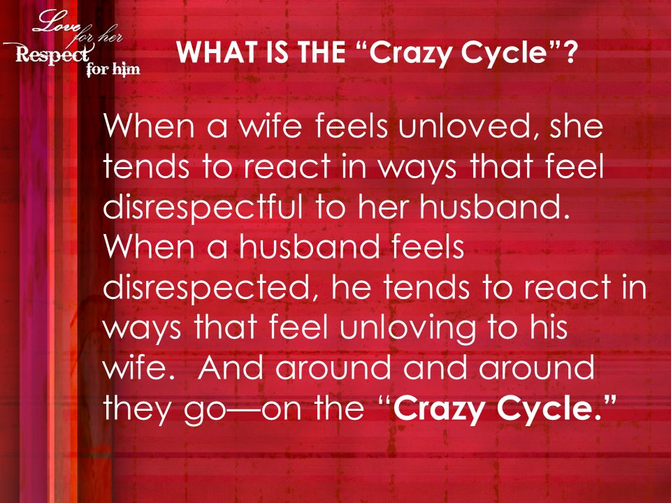 Here is an acronym C-O-U-P-L-E, which provides six ways for a husband to spell love for his wife.