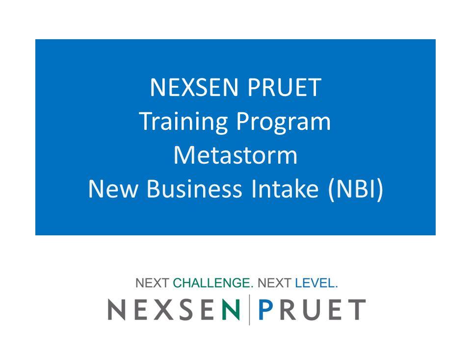 NEXSEN PRUET Training Program Metastorm New Business Intake (NBI)
