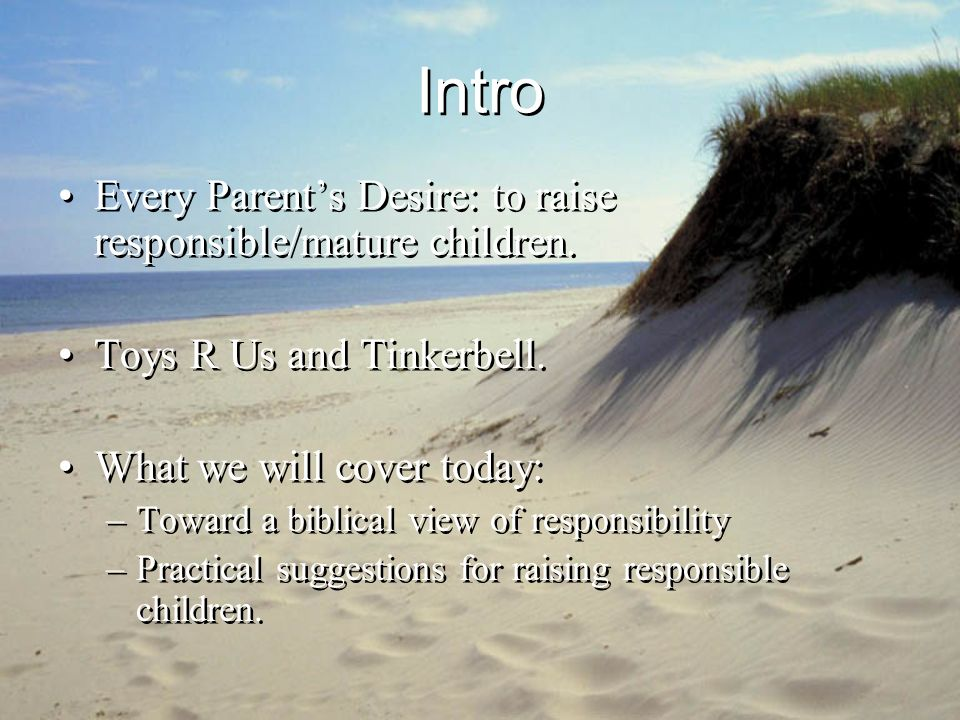 Practical Suggestions How can you use a childs mistakes to teach about responsibility.