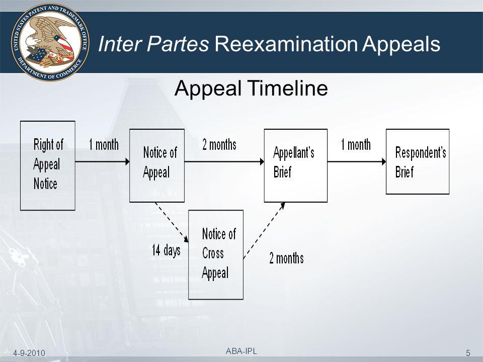 4-9-2010 ABA-IPL 5 Inter Partes Reexamination Appeals Appeal Timeline
