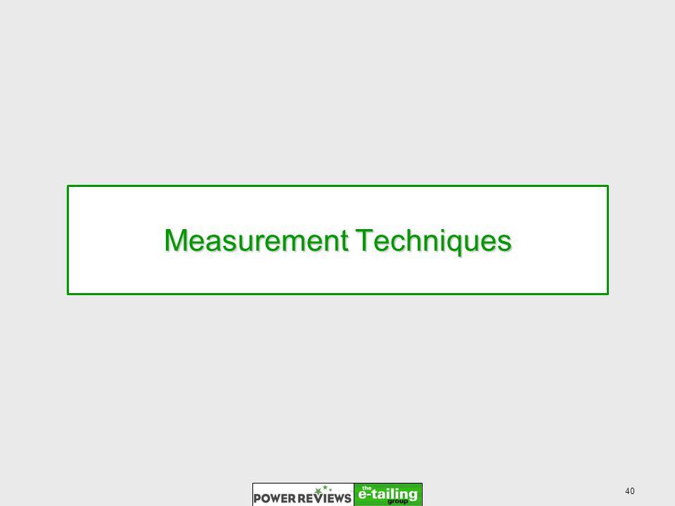 40 Measurement Techniques