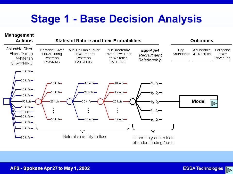 AFS - Spokane Apr 27 to May 1, 2002ESSA Technologies Stage 1 - Base Decision Analysis