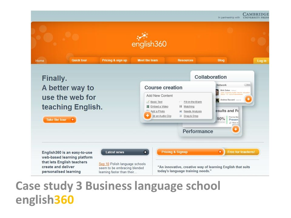 Case study 3 Business language school english360