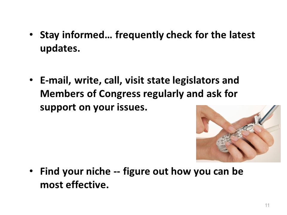 Stay informed… frequently check for the latest updates.