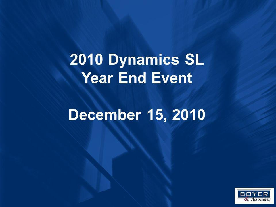 2010 Dynamics SL Year End Event December 15, 2010