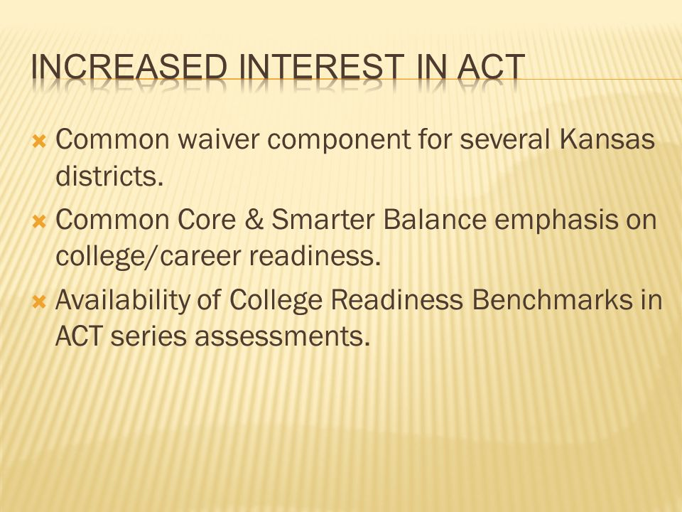 Common waiver component for several Kansas districts.