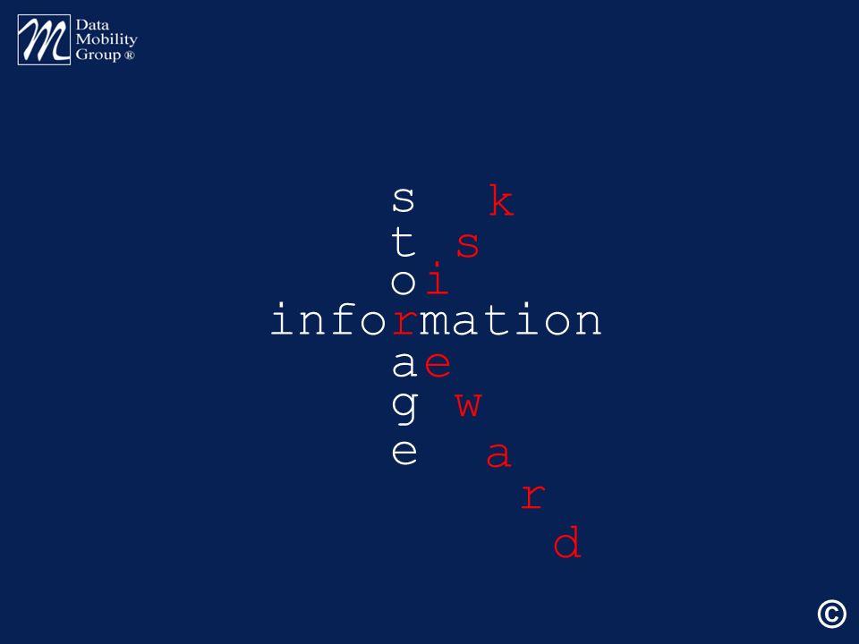 information s t o a g e e w a i s k r d ©
