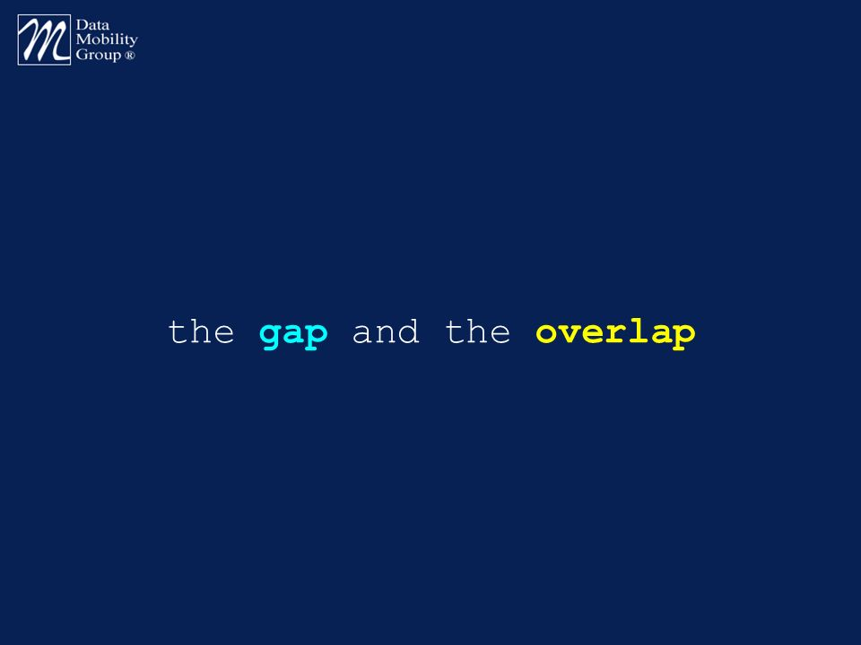the gap and the overlap
