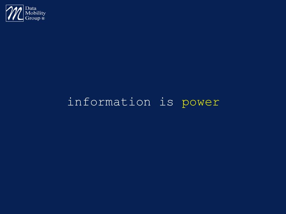 information is power