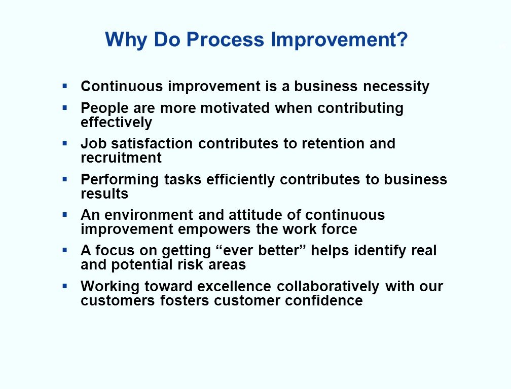 15 Why Do Process Improvement.