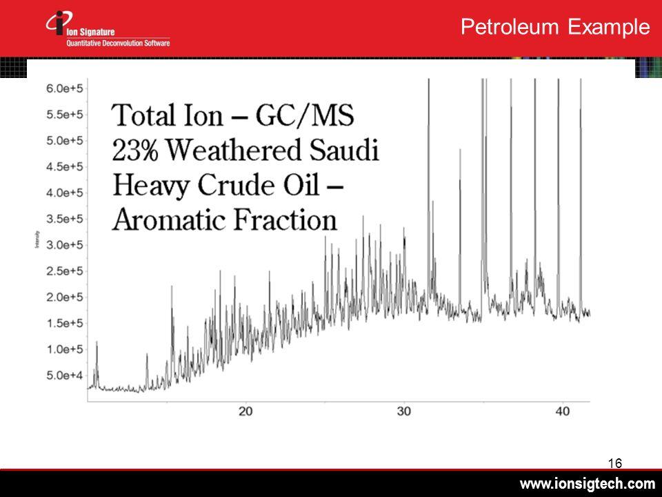 www.ionsigtech.com 16 Petroleum Example