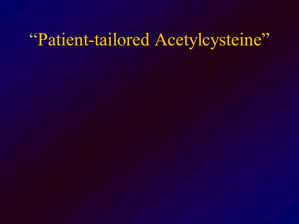 Patient-tailored Acetylcysteine