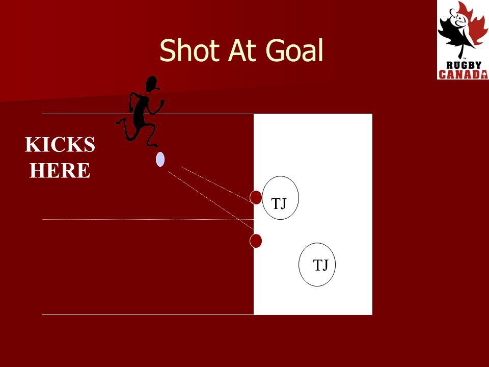 TJ KICKS HERE TJ Shot At Goal