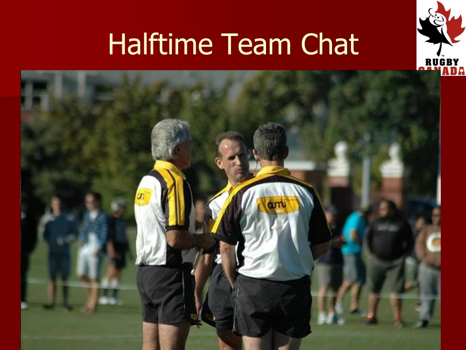 Halftime Team Chat