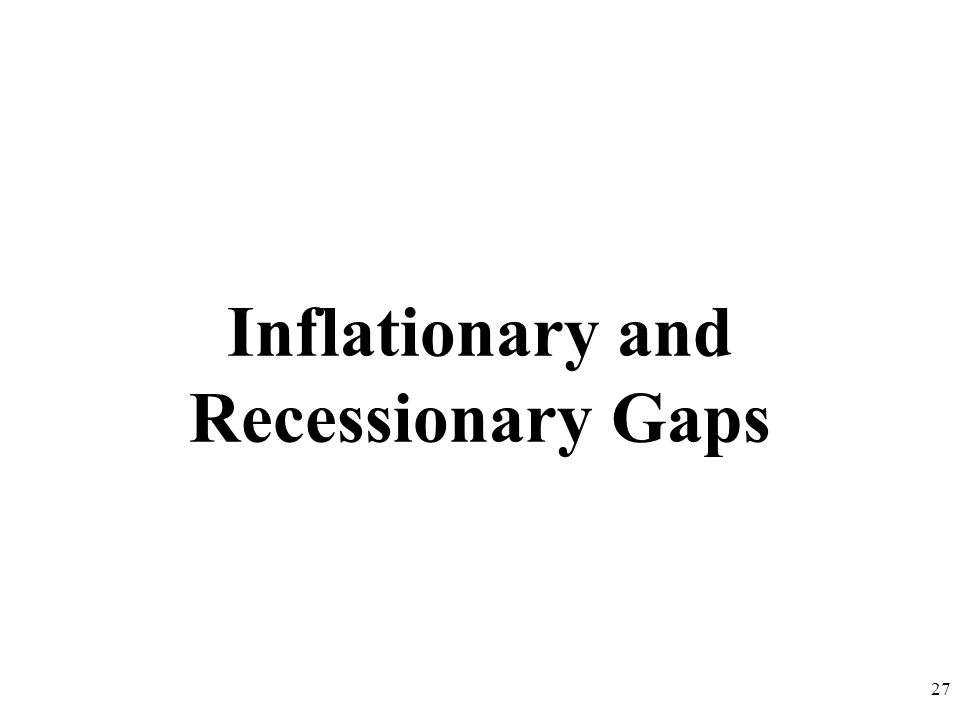 Inflationary and Recessionary Gaps 27