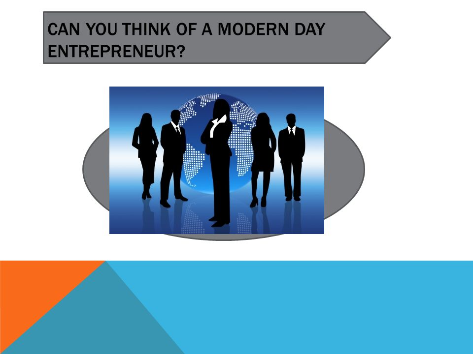 CAN YOU THINK OF A MODERN DAY ENTREPRENEUR?
