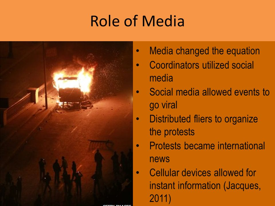 Media changed the equation Coordinators utilized social media Social media allowed events to go viral Distributed fliers to organize the protests Prot