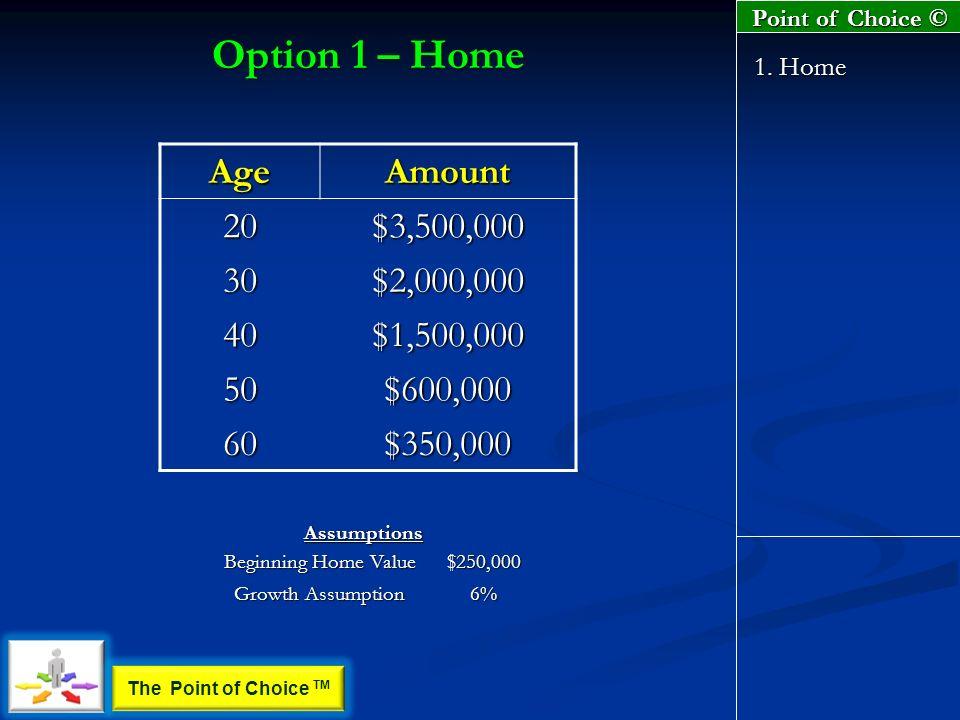 Option 1 – Home 1.