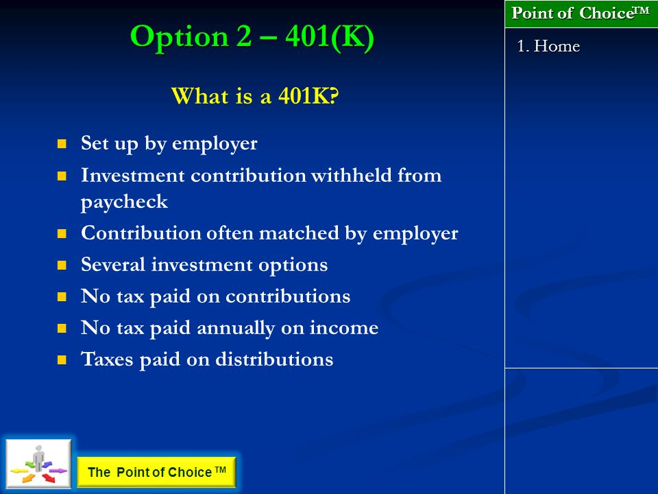 What is a 401K. 1.