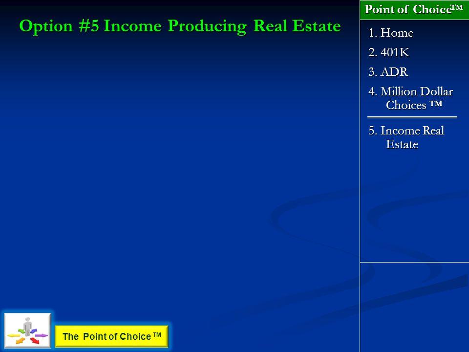 2. 401K 1. Home 3. ADR 4. Million Dollar Choices 4.