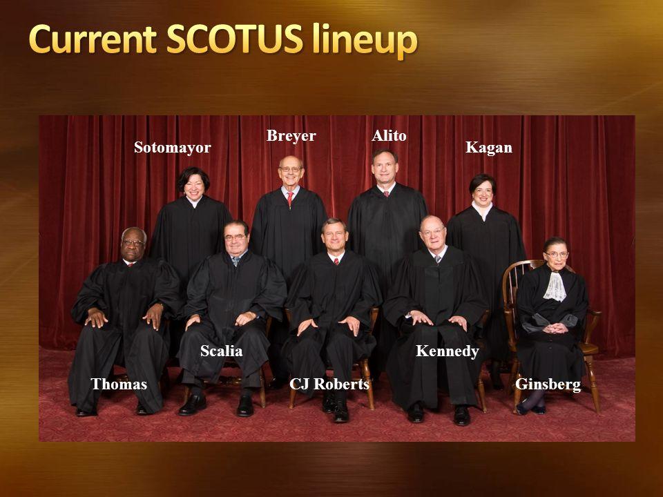 GinsbergThomas Breyer Scalia CJ Roberts Alito Kennedy SotomayorKagan