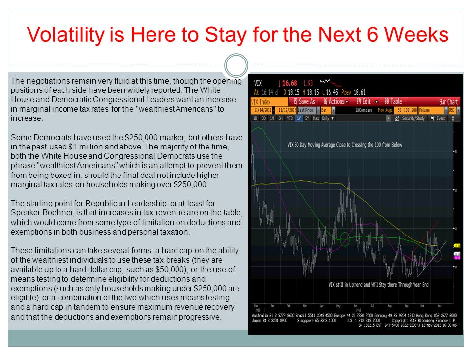 Volatility is Here to Stay for the Next 6 Weeks The negotiations remain very fluid at this time, though the opening positions of each side have been w