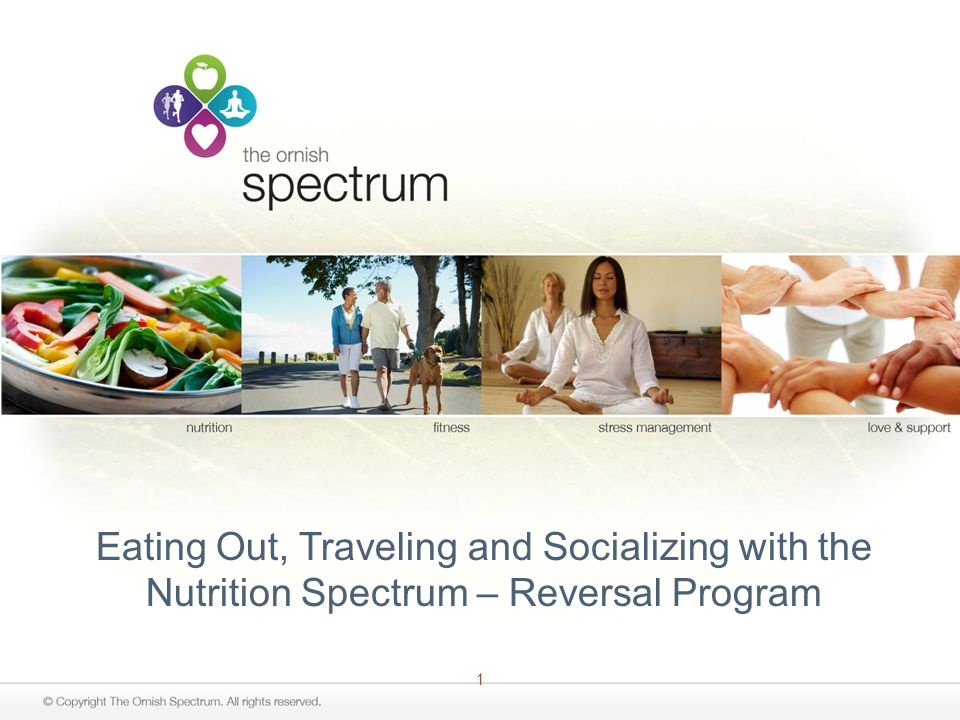 1 Eating Out, Traveling and Socializing with the Nutrition Spectrum – Reversal Program