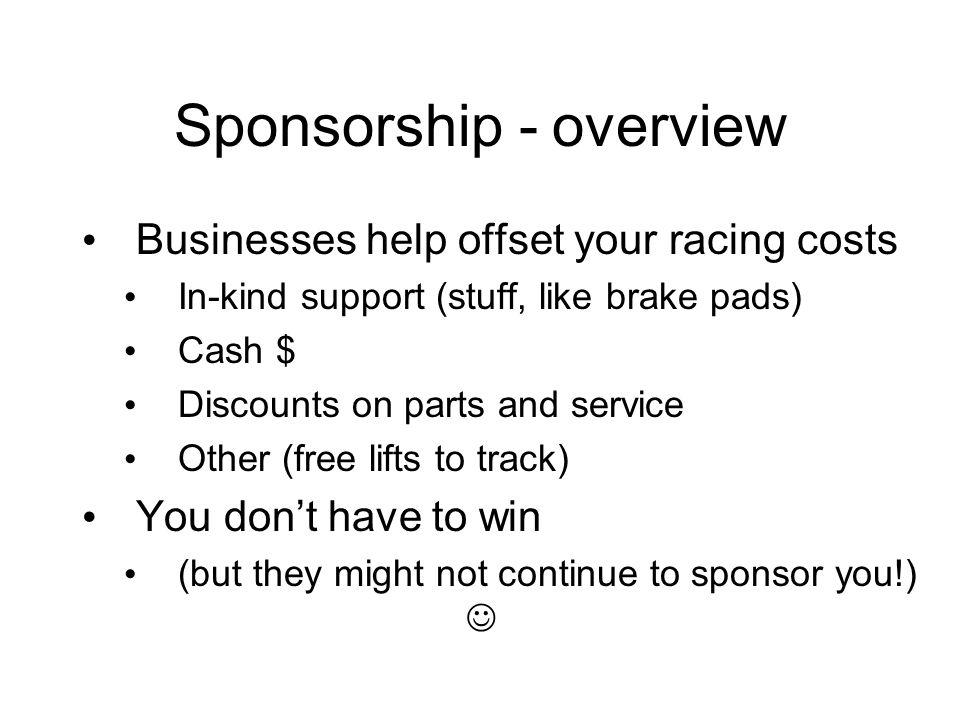 Sponsorship - details Who offers sponsorship.