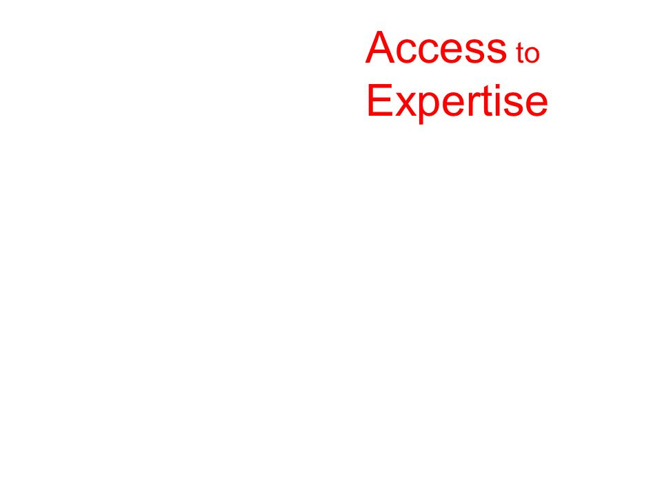 Access to Expertise Access to Expertise