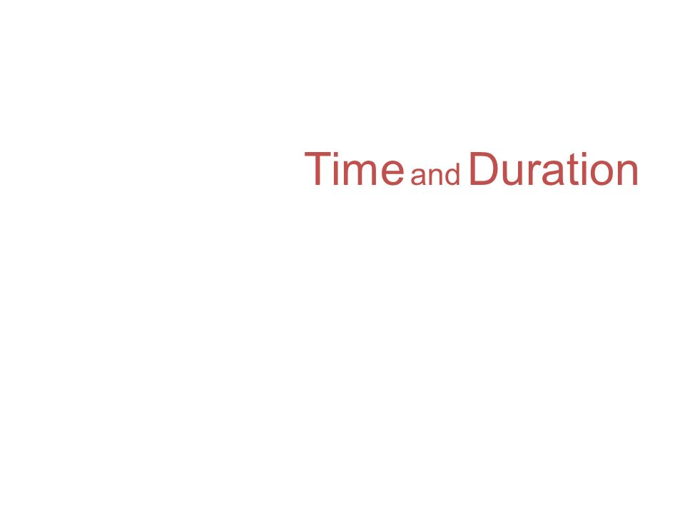 Time and Duration