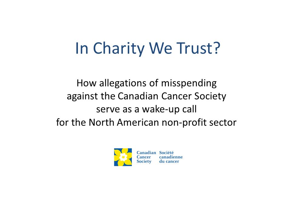 Lessons From Public Relations Transparency & trust underpin philanthropy.