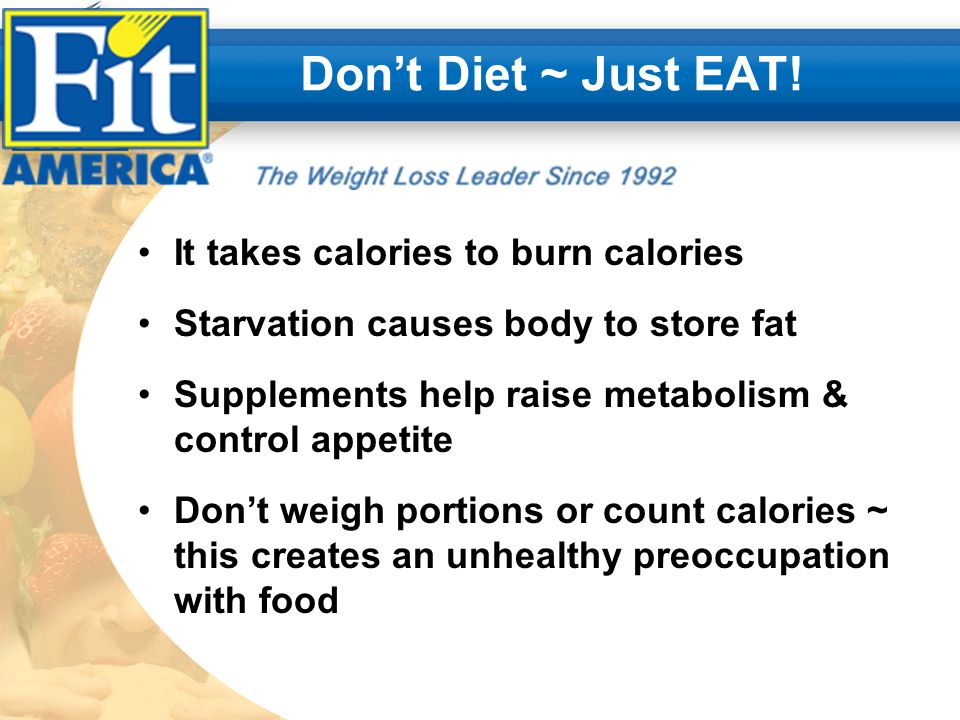 Dont Diet ~ Just EAT.