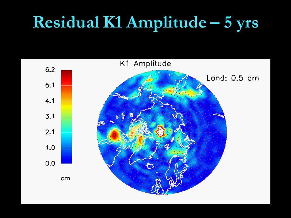 Residual K1 Amplitude – 5 yrs