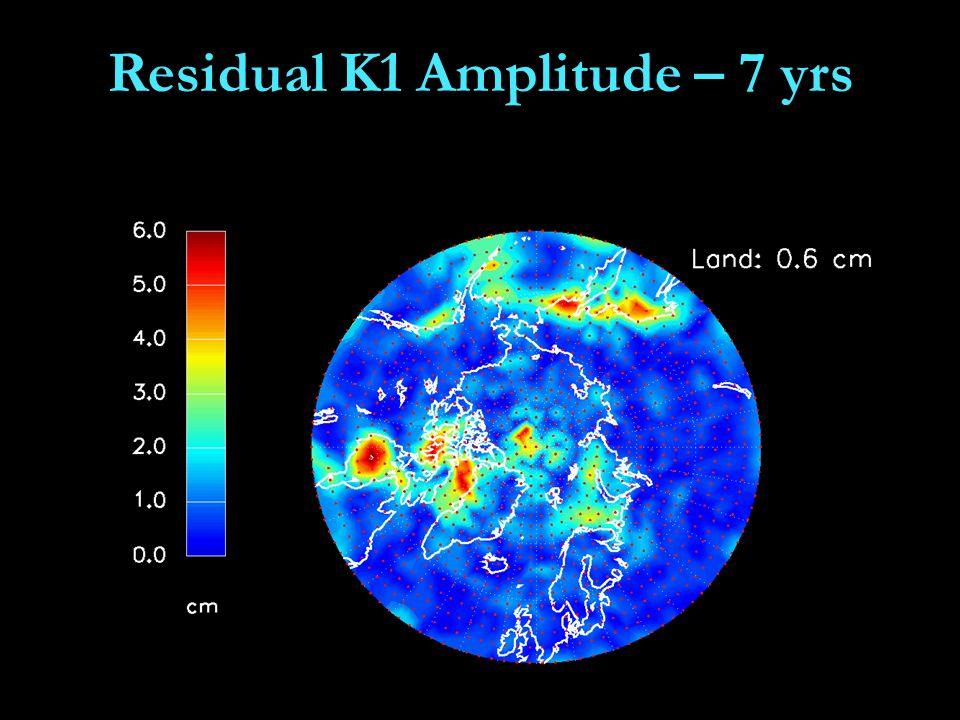 Residual K1 Amplitude – 7 yrs