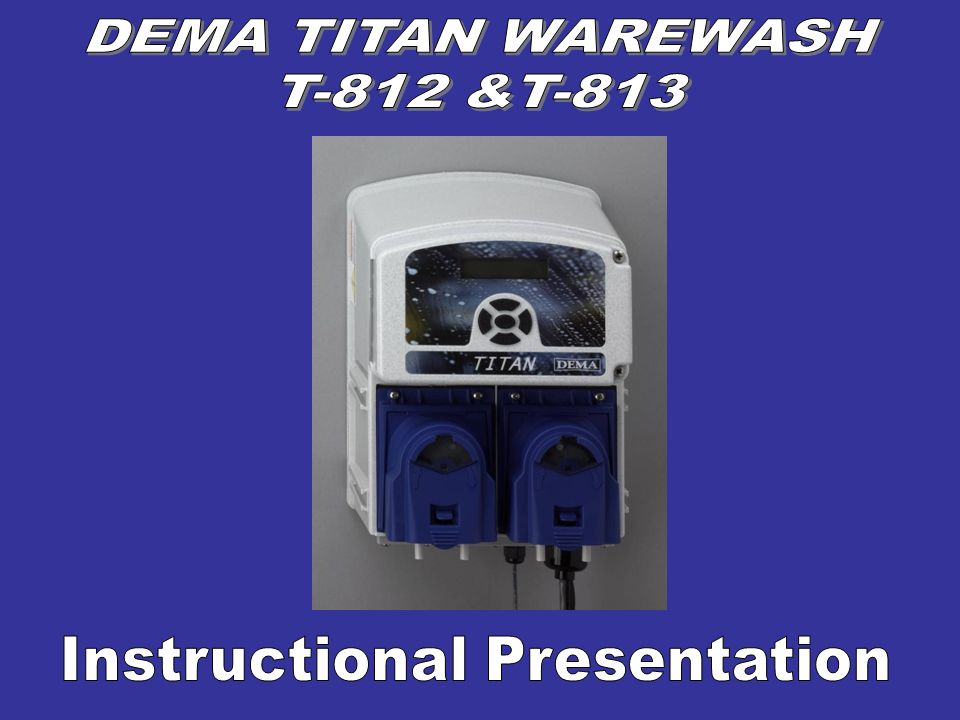 Disconnect the power from the Titan and the warewash machine.