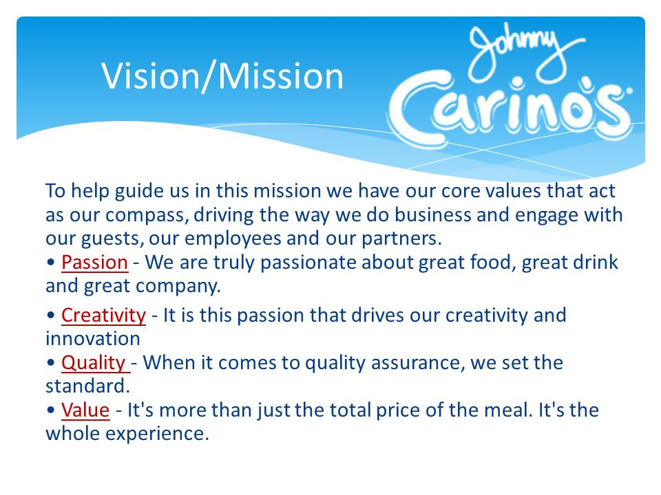 To help guide us in this mission we have our core values that act as our compass, driving the way we do business and engage with our guests, our emplo