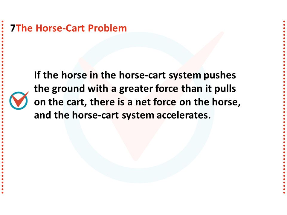 All the pairs of forces that act on the horse and cart are shown.