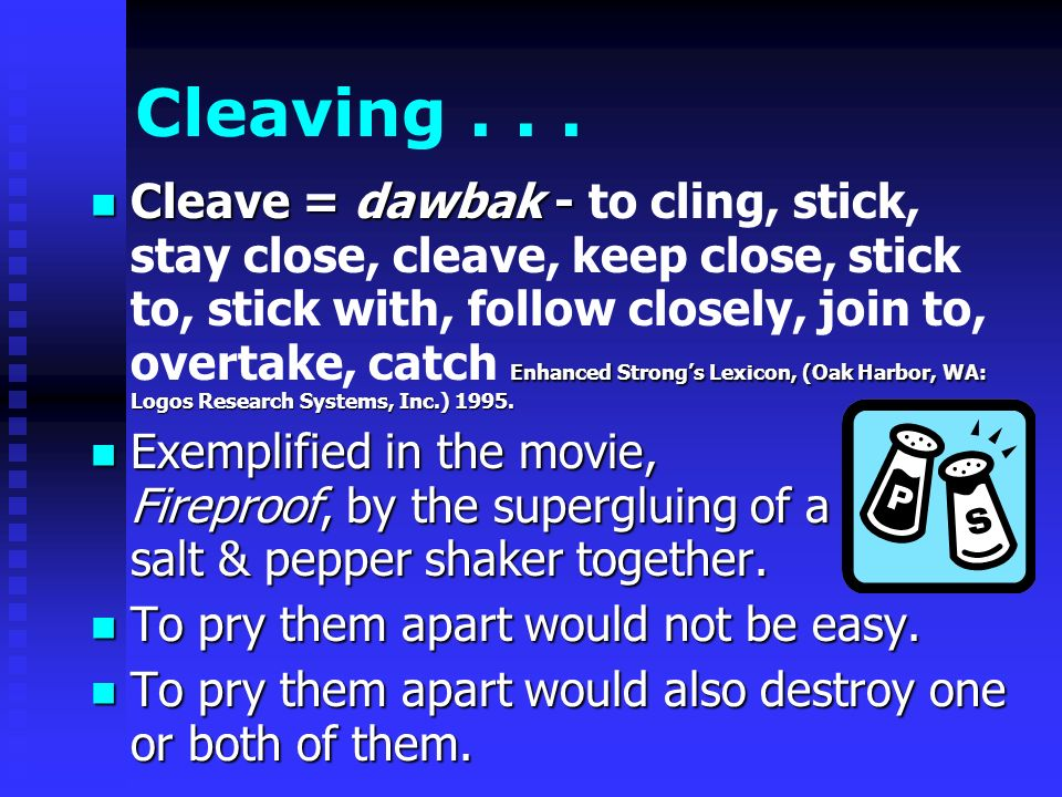 Cleaving...